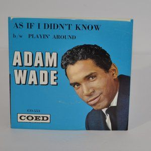 Adam Wade As If I Didn't Know 1961 Pop Record